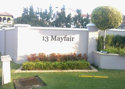 Mayfair-sign by Arrow Signs